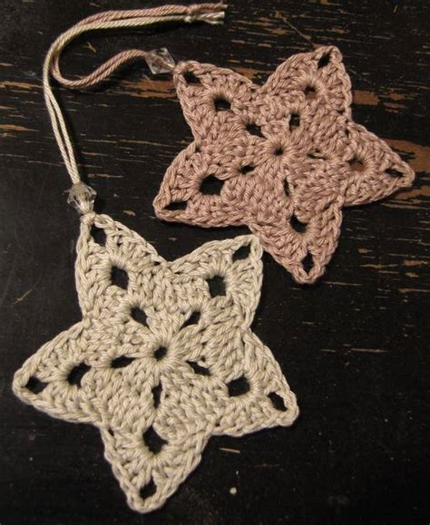 christmas stars crochet ornament crochet kingdom