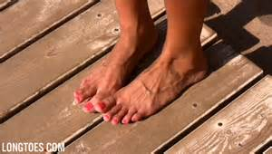 long toes and beautiful pedicure