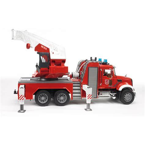 bruder fire truck mack firetruck bruder toys america inc