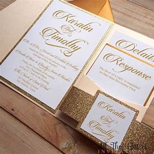 wedding pocket glitter wedding invitation template photo With wedding invitations jacket pocket
