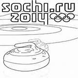 Curling Olympics Surfnetkids sketch template