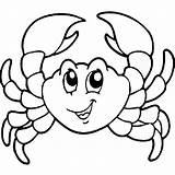 Crab Coloring Pages Cartoon Crabs Print Fish Template Drawings Cute Animal Sea Creatures Coconut Preschool Templates Coloringbay Results Coloring2print sketch template