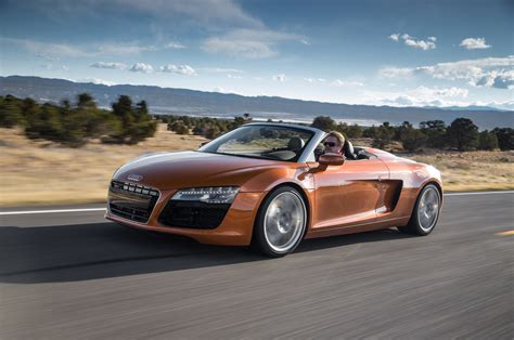2014 Audi R8 by 2014 Audi R8 Spyder Front Three Quarters In Motion Photo 22