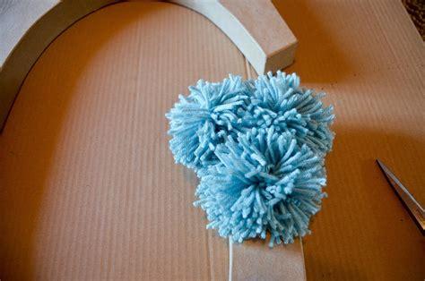 giant pom pom initial     letter yarncraft