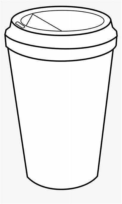 Coffee Cup Coloring Pages Clipart Starbucks Clip
