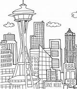 Coloring Skyscraper Pages Building Around sketch template