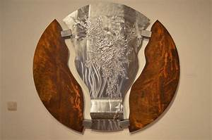 Wandbilder Aus Holz : ausgefallene wandbilder stahlkunst abstrakte kunst aus stahl moderne wandbilder aus metall ~ Frokenaadalensverden.com Haus und Dekorationen