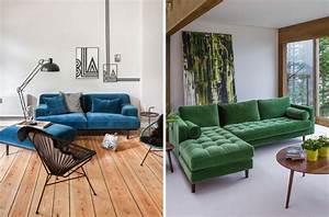 Inspirations pour un canape en velours joli place for Canapé 3 places pour decoration du sejour