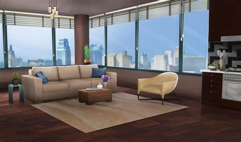 Int. La Apartment Day Large #episodeinteractive #episode Wall Mount Kitchen Cabinets How Much Does It Cost To Reface 60 Tv Cabinet Howard Miller Led Battery Lights Under 72 Inch Vanity Only Plug In Lighting Bathroom B&q