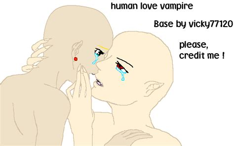 Human And Vampire Love Base By Vicky77120 On Deviantart