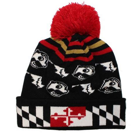 alternating boh state  maryland  flag brim black