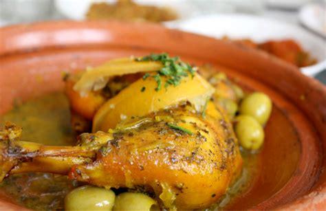 cuisine marocaine poulet aux olives tajine de poulet aux citrons confits et aux olives