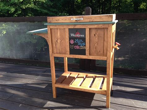 ana white wooden cooler stand diy projects