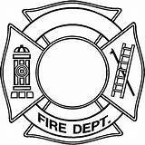 Hat Fireman Drawing Firefighter Fire Maltese Coloring Cross Template Department Clipart Dept Templates Clipartmag sketch template