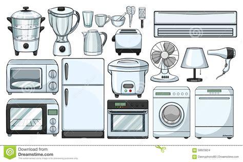 Geräte In Der Küche by Elektronische Ger 228 Te Benutzt In Der K 252 Che Vektor Abbildung