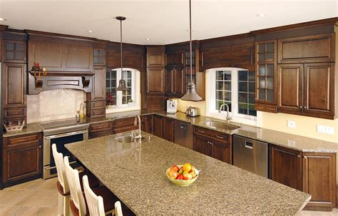 dosseret cuisine armoires brunes image sur le design maison