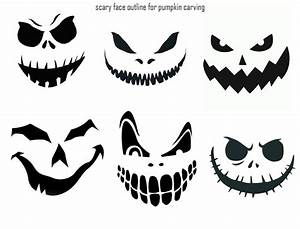 7, Best, Printable, Scary, Halloween, Faces