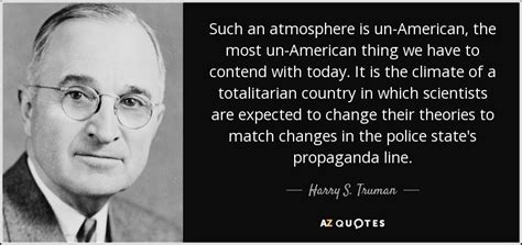 harry  truman quote   atmosphere   american