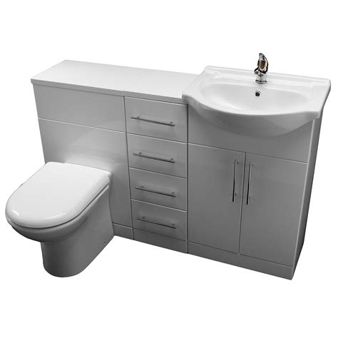 sink basin cabinet allbits white gloss wc combination 550 vanity unit