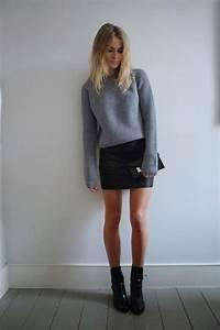 How To Wear Black Leather Skirts 2018 | FashionTasty.com