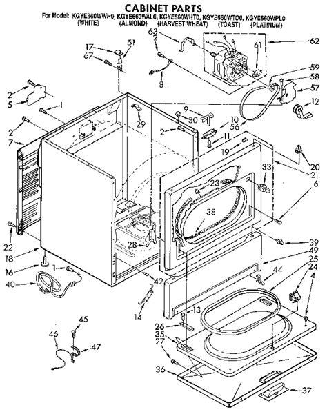 Kitchenaid Parts Dryer by Kitchenaid Kitchenaid Dryer Parts