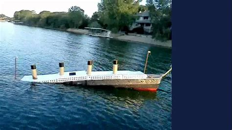 Titanic Movie Boat Model by 19ft Long 1 46 Scale Titanic Model Sinking Youtube