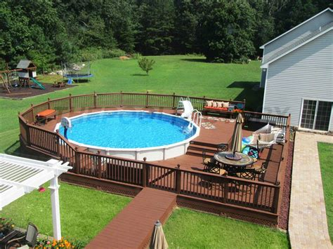 Pool Deck Ideas Full Deck  Pool Factory
