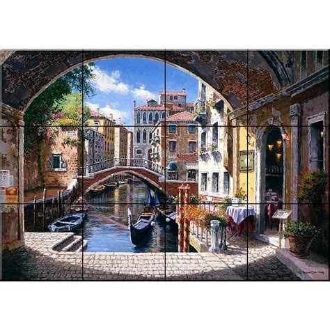tile mural store archway  venice