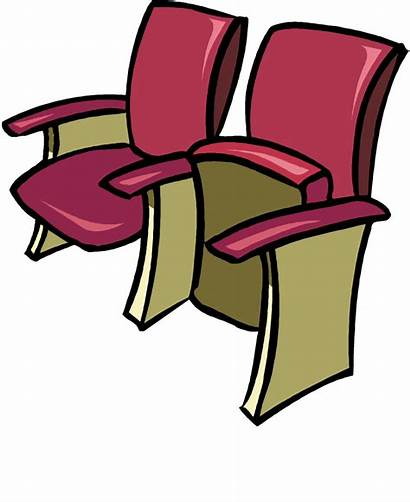 Clip Clipart Seats Theater Row Seat Cliparts