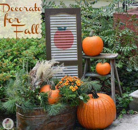 fall yard decor fall outdoor decorating diy painted shutter hoosier homemade