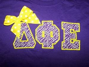 custom greek letter sorority shirt With dphie letters