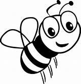 Bee Coloring Cartoon Smile Honey Bumble Printable Cool Sheets Wecoloringpage Ingrahamrobotics sketch template