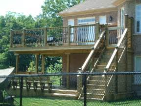 second story deck for the home second