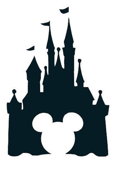 Disney Castle Clipart Disney Castle With Mickey Mouse Vinyl By