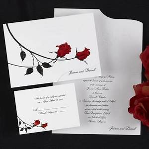 red roses wedding invitations romantic wedding With red rose wedding invitations template