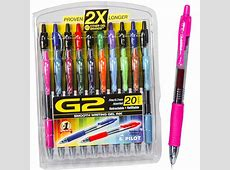 Pilot G2 20 Pack 31294, 07mm Gel Ink Rolling Ball Pen