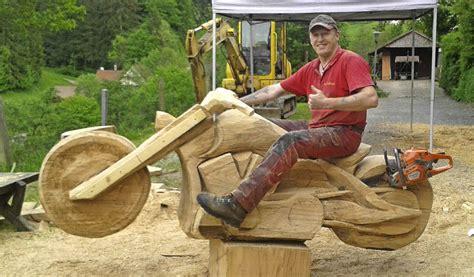 Die Harley Aus Holz  Friesenheim  Badische Zeitung