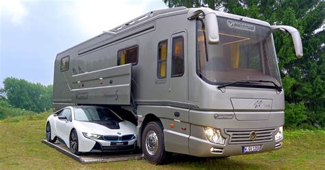 Motorhome With Garage by This 1 7 Million Motorhome With Its Own Garage May Look