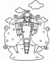 Coloring Treehouse Drawing Tree Pages Magic Annie Jack Sketch Template Colorluna sketch template