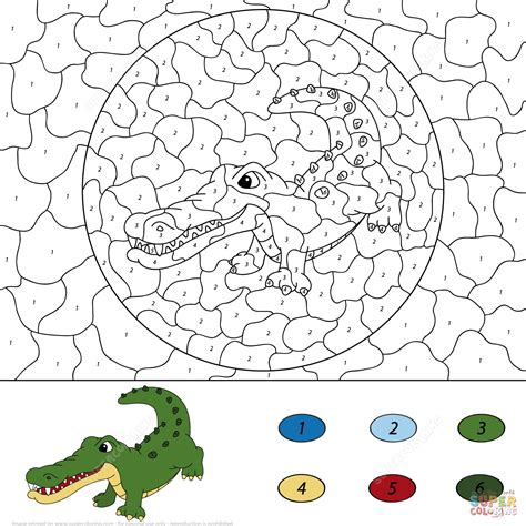 what color are crocodiles crocodile color by number free printable coloring pages