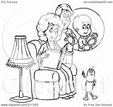 Coloring Royalty Pill Outline Clipart Talking Couple Expecting Illustration Bannykh Alex Rf Pillbox Copyright Template sketch template