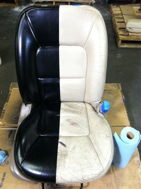 give  worn tired car seats  makeover  simply spray leather cote
