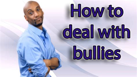 Stop Bullying  How To Deal With Bullies Youtube