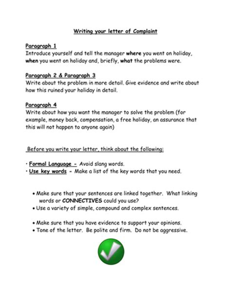 Complaint Letters by sjb1987 - Teaching Resources - TES