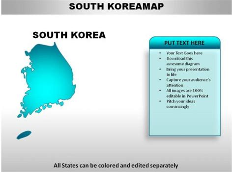 south korea country powerpoint maps templates powerpoint