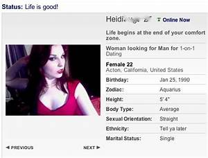 example of a good female dating profile