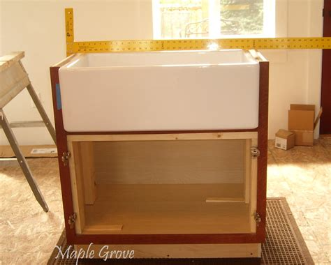 farm sink base cabinet maple grove how to build a support structure for a farm
