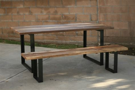 metal legs for wood table reclaimed wood and metal furniture furniture design ideas