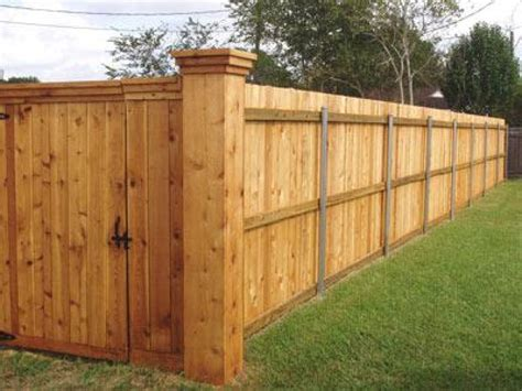 fence ideas cedar fences this cedar fence has large corner p