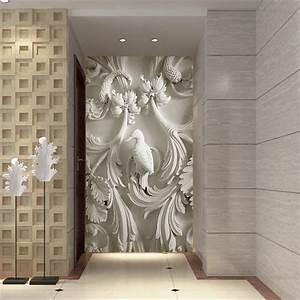 wall paper 3d art mural HD European classic embossed ...